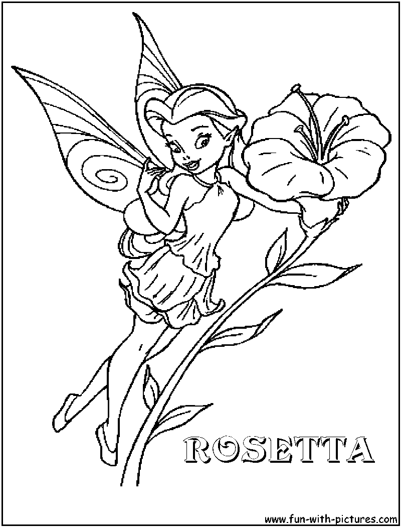 Disney Fairy Rosetta Coloring Page disneyfairies Fairy