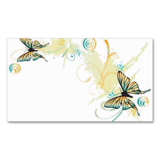 Butterflies profile card card templates business cards for Butterfly business cards