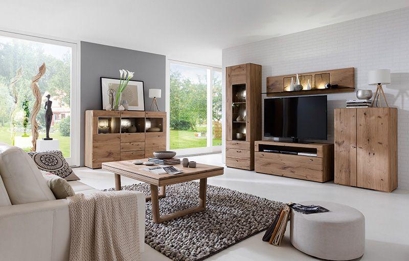 Massivholzmöbel Modern hartmann bo solid wood furniture model series living combination