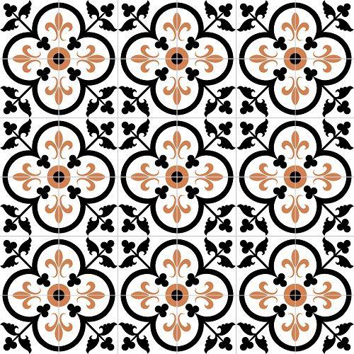 Fleur De Lis Clover Encaustic Cement Tile 8 X8