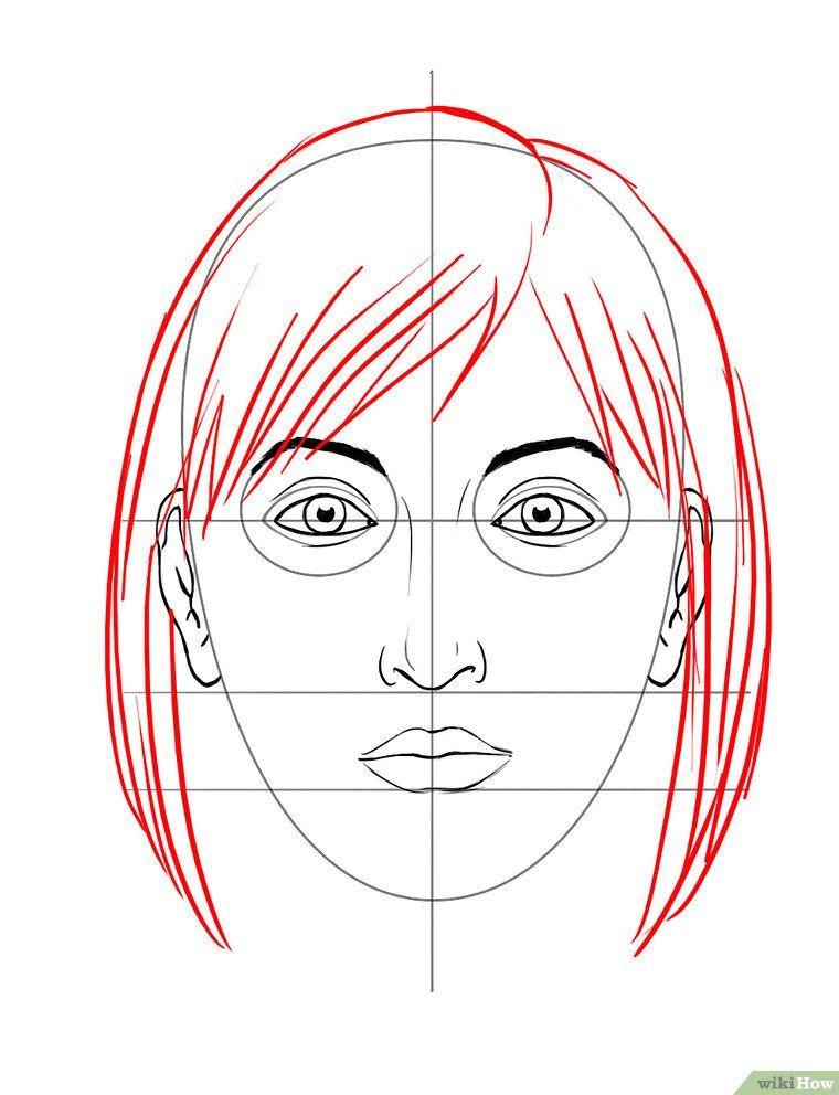 Ein Gesicht zeichnen | Gesichter zeichnen, Gesicht und Zeichnen