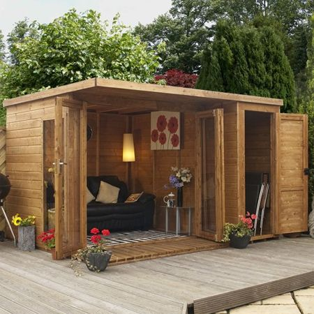 Home dzine a garden shed hut or wendy house becomes a for Wooden wendy house ideas