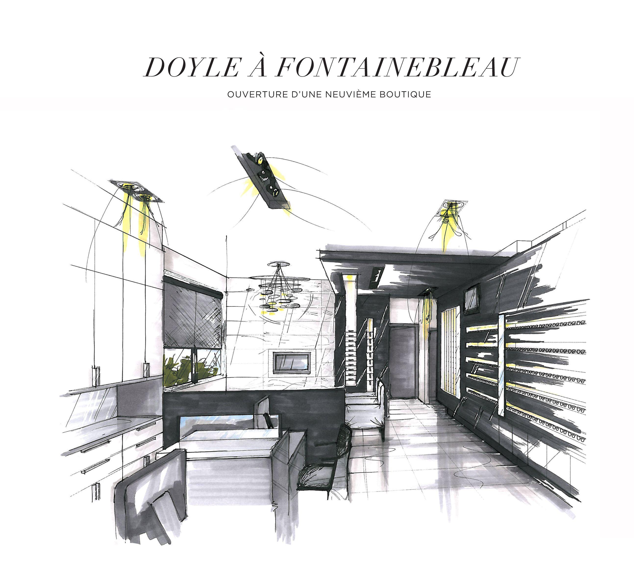 illustration 3d dessin la main moderne distingu 3d illustration illustration 3d. Black Bedroom Furniture Sets. Home Design Ideas