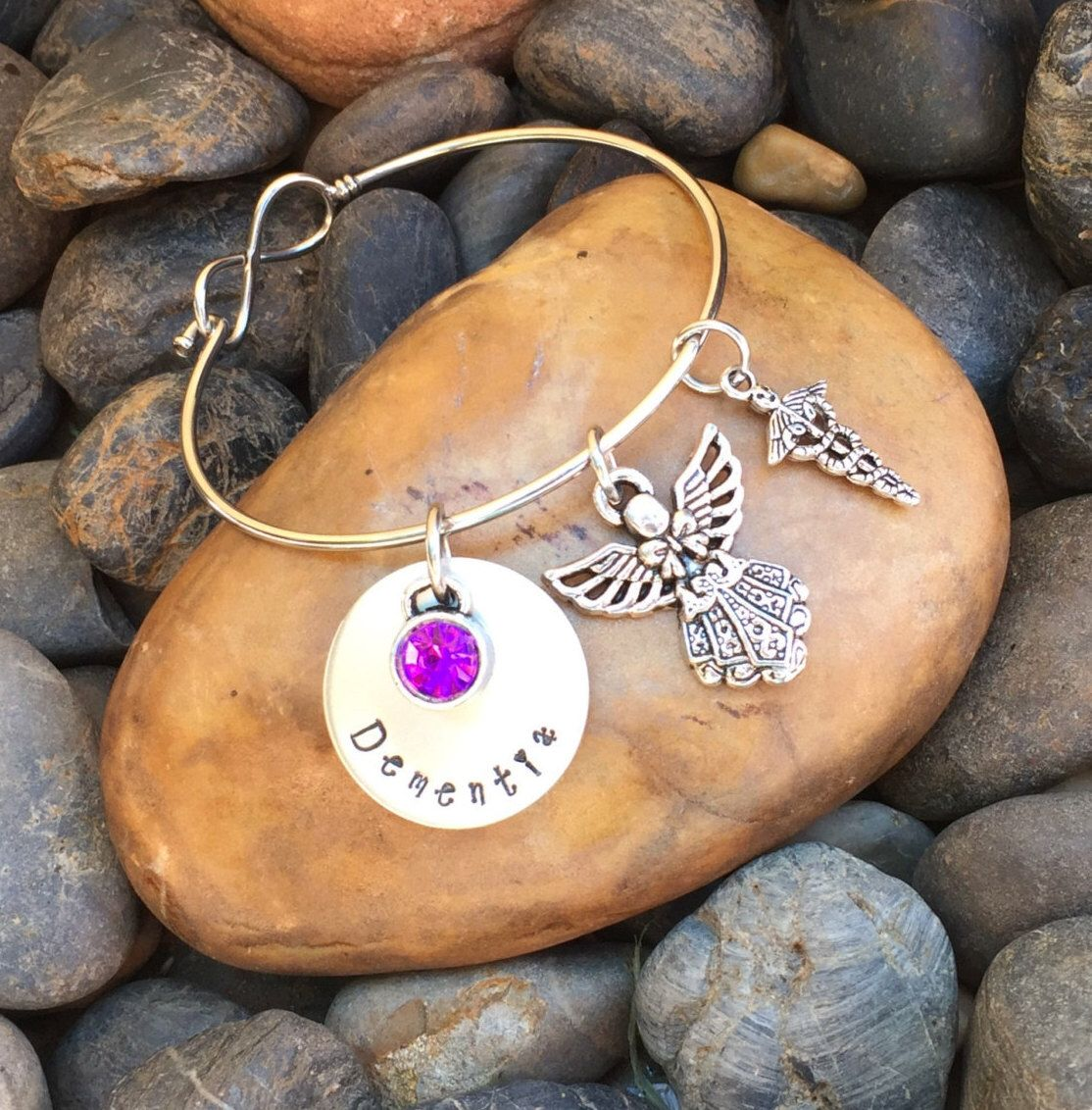 Dementia Bracelet | Dementia Jewelry | Medical Alert Bracelet | Medical Alert Jewelry | Dementia Awareness Gift | The Purple Angel Jewelry by SecretHillStudio on Etsy https://www.etsy.com/listing/463760881/dementia-bracelet-dementia-jewelry