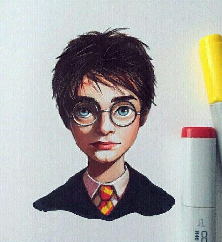 Harry Potter By Lera Kiryakova Kawaii Desenhos Fofos Artes