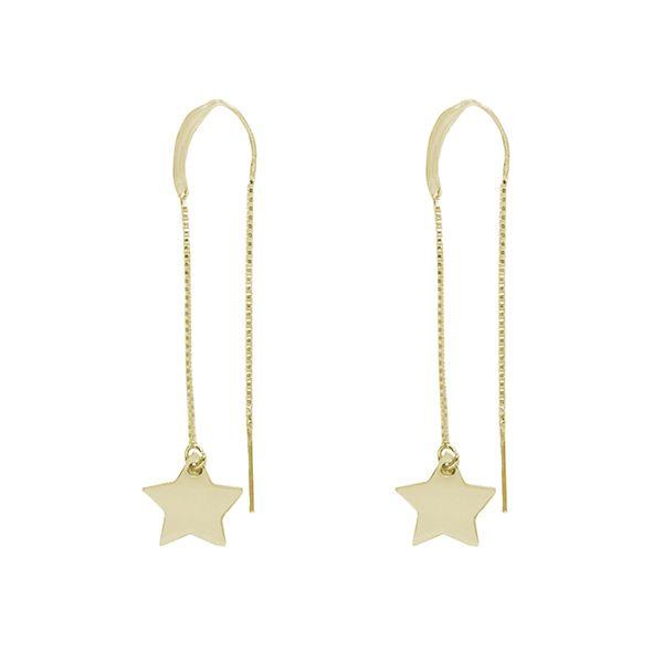 Pendientes AITUTAKI de estrella de plata recubiertos de oro de 18kts ( Disponible en plata)