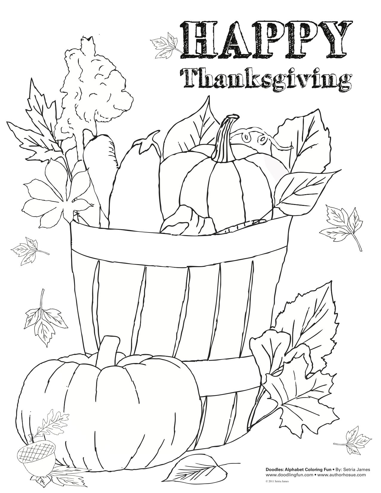 Thanksgiving Holiday Free Coloring Page Pumpkin Printable Fall Autumn Teacher