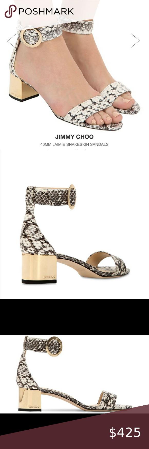 Jimmy Choo Jaimie Snakeskin Sandals Nwt 750 In 2020 Jimmy Choo Jimmy Choo Shoes Heels Shoes Women Heels