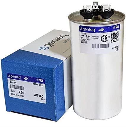 GE Genteq Round Capacitor 70 7.5 uf MFD 370 Volt 27L556BZ3