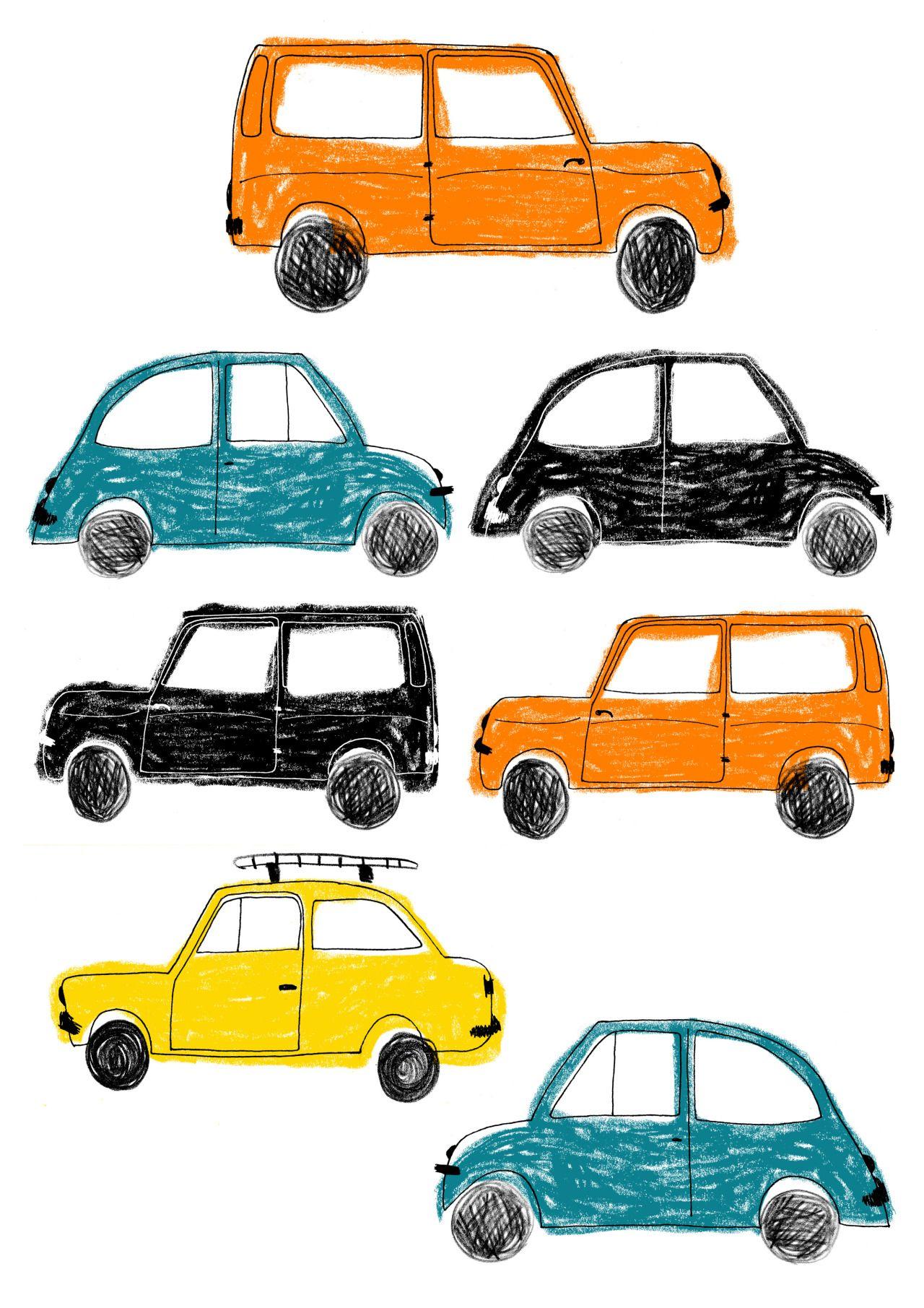 Juliana Vido Ilustracion Car Illustration Kids Watercolor Illustration