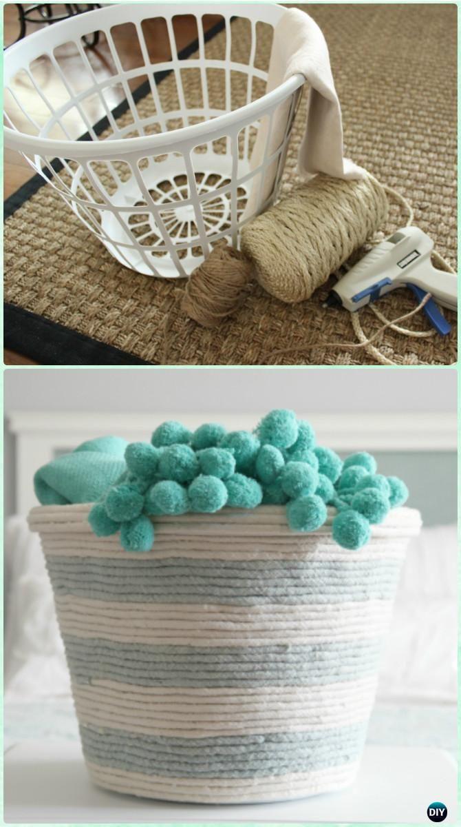 Diy Rope Laundry Basket Organizer Instructions Creative Ways Of