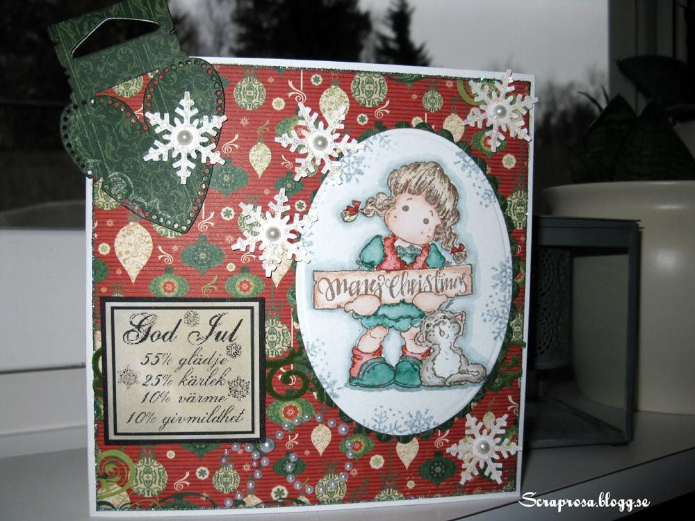 Christmas card by DT Rosa  http://blog.pysseldags.com/2012/11/recept-for-julen.html http://shop.pysseldags.se