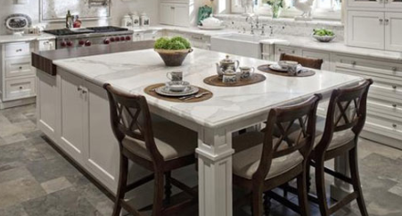 Kitchen Island Idea I Like That The Kids Can Sit Around Here To Eat And Or Do Crafts Help Bake Etc