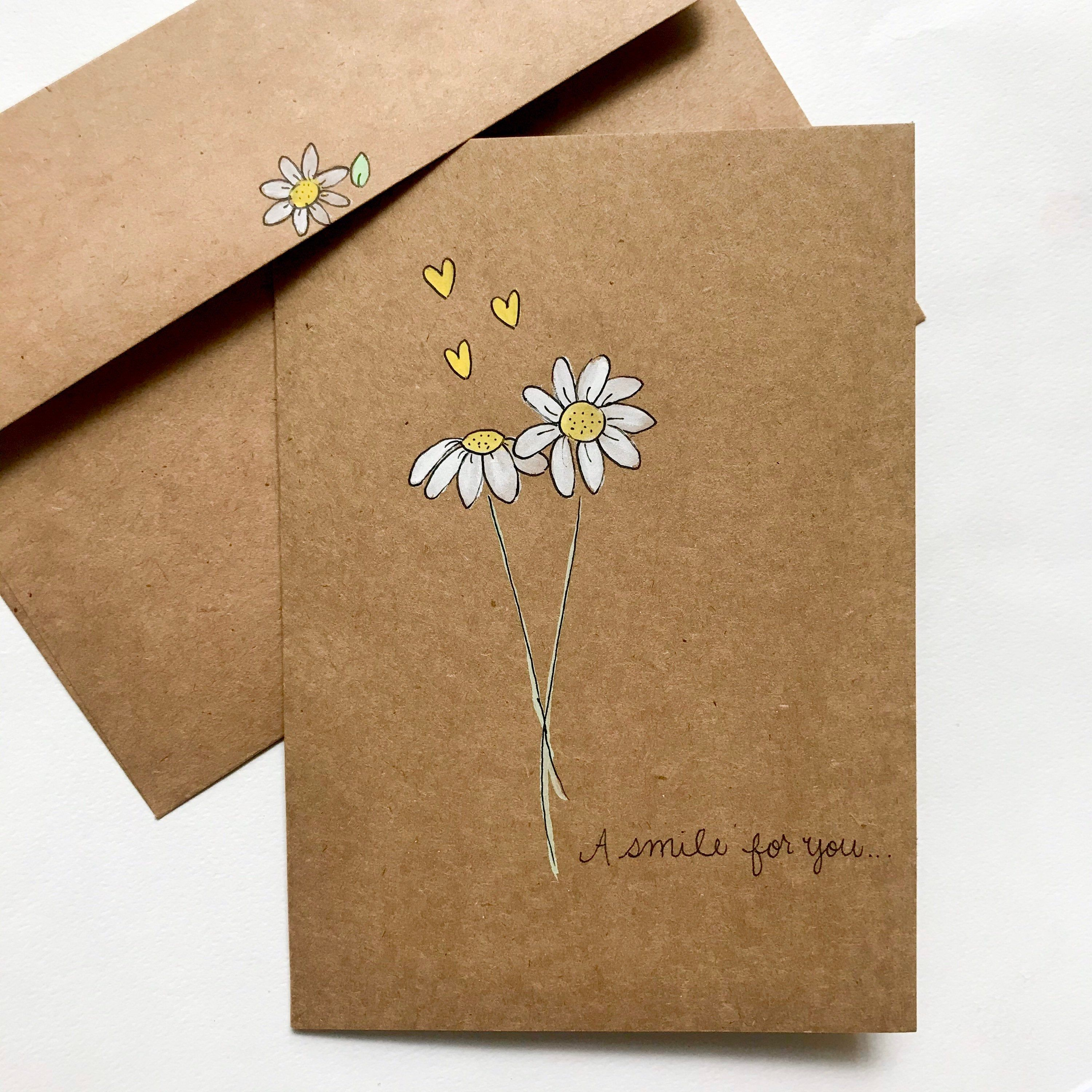 Hand Painted Sunshine Watercolor Blank Card