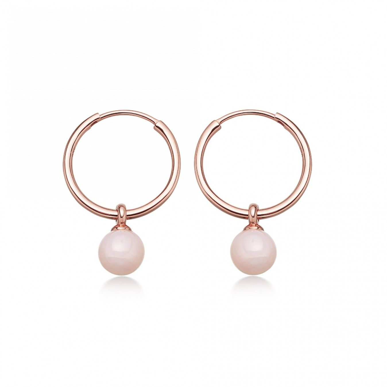 b4051a02e Astley Clarke Pink Opal Vera Drop Hoop Earrings Rose Gold Vermeil ...
