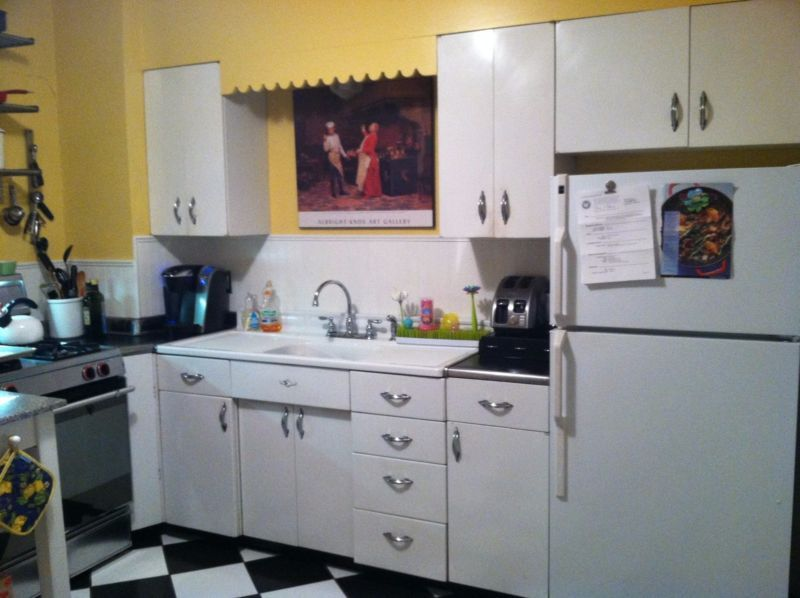 Youngstown vintage steel kitchen cabinets with sink and ...