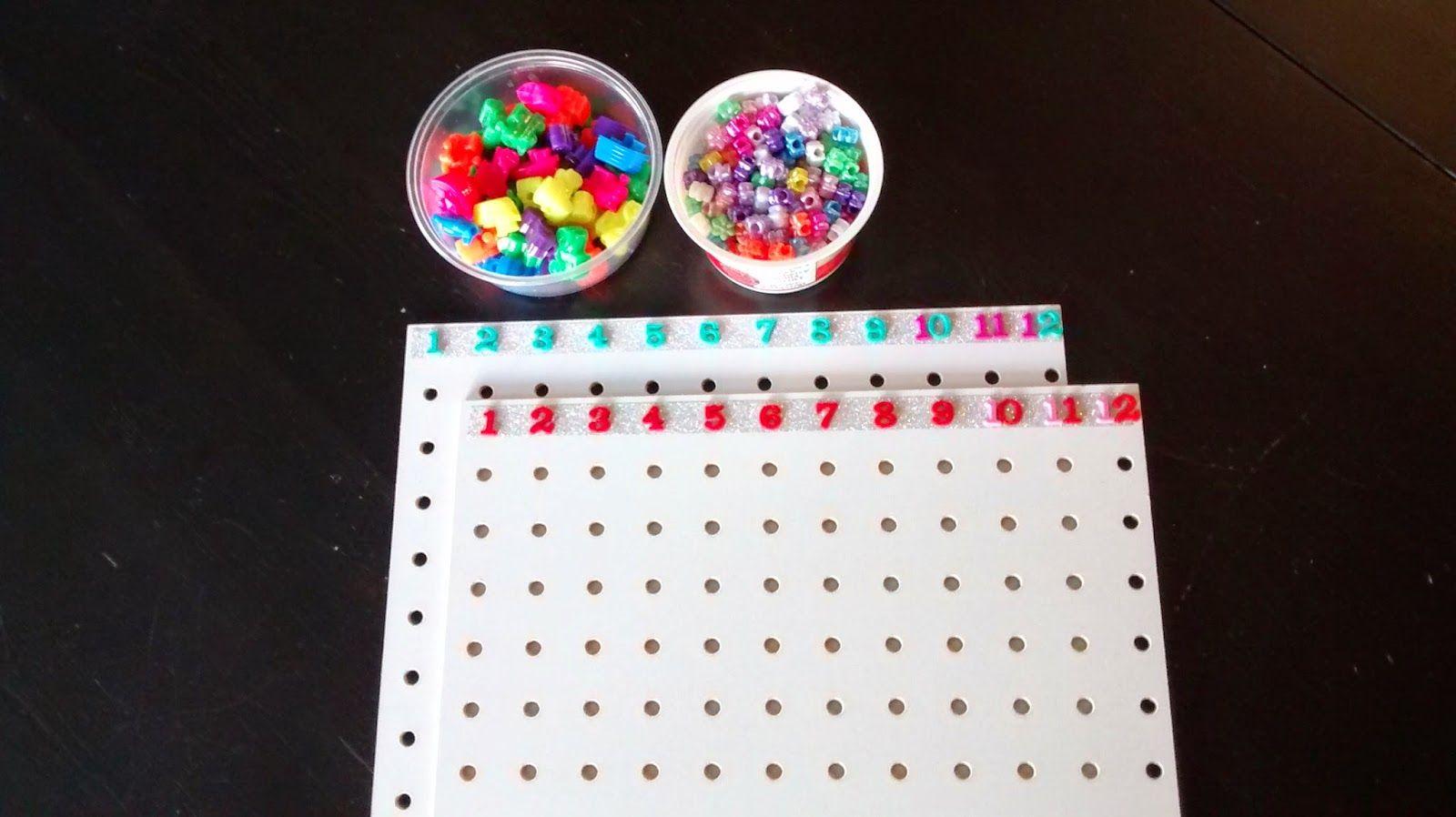 Homemade Montessori Mutiplication And Division Boards