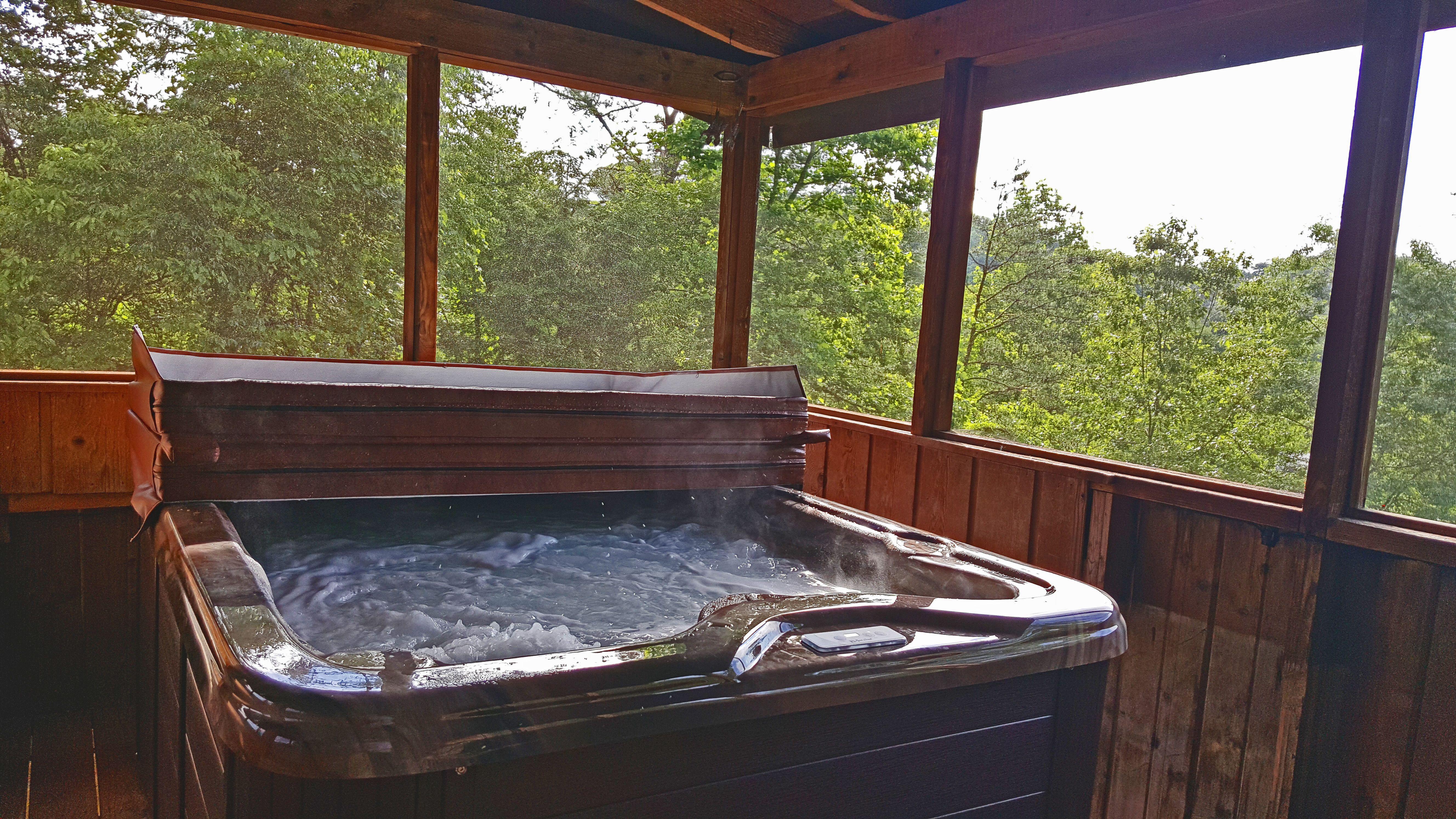 New Hot tub 2018 Rentals Cabin hot tub, Smoky mountain