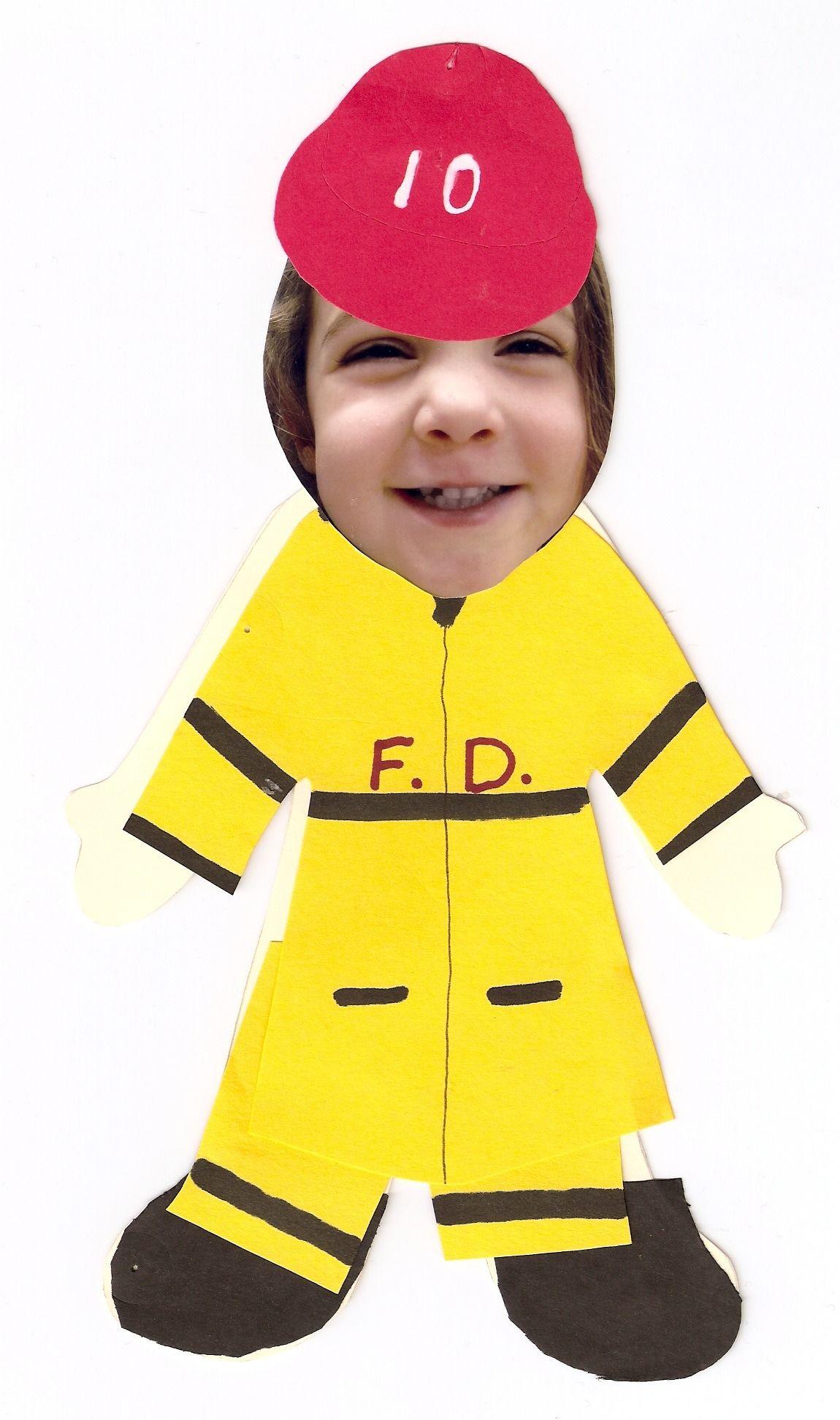 Fireman Crafts For Preschoolers