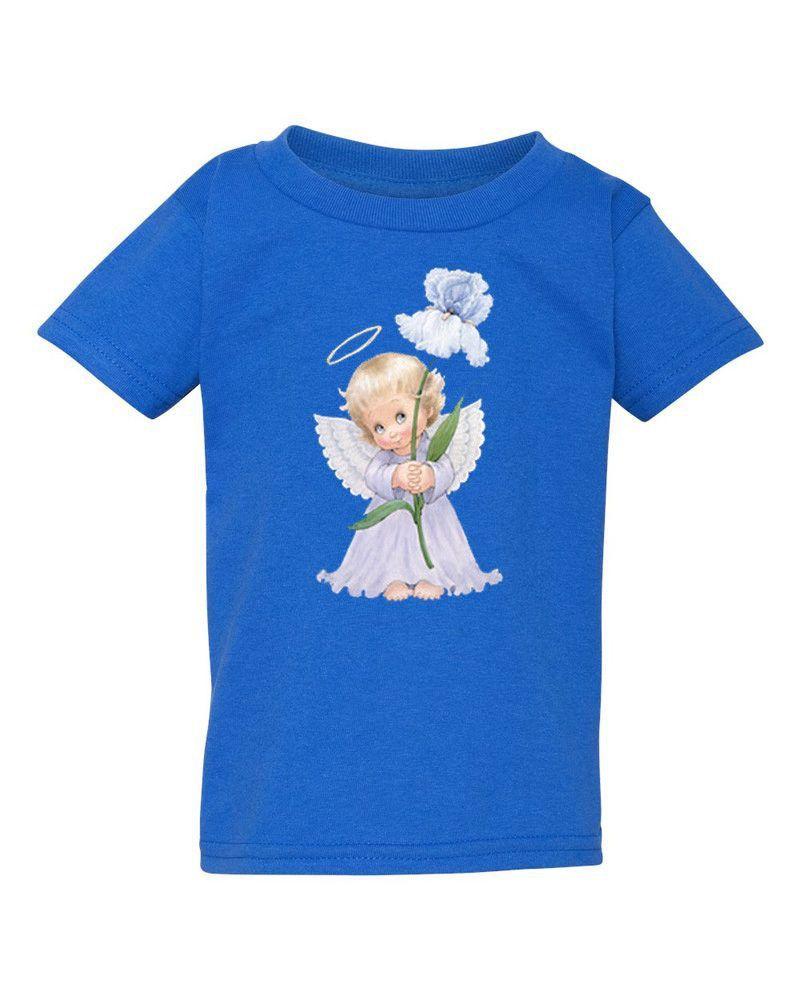 Angel Holding Iris - Children's T-shirt