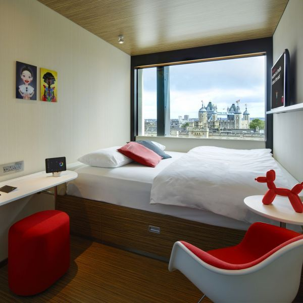citizenM room at citizenM Tower of London hotel - great view