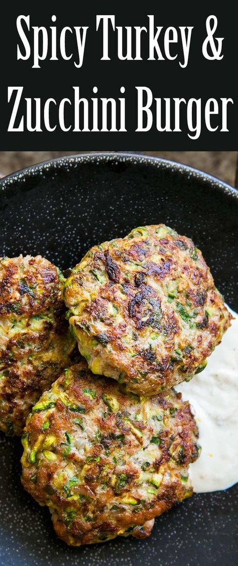 Spicy Turkey and Zucchini Burger | Recipe | Turkey burger ...