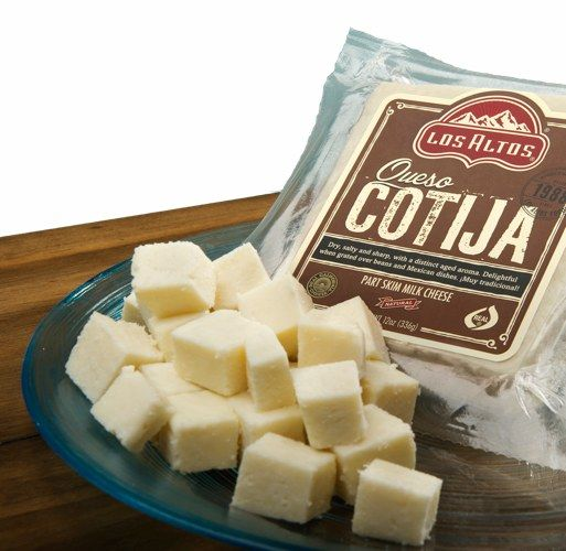 Buy Cotija Cheese Queso Cotija By Los Altos Foods At Mexgrocer Com For The Best Selection Of Mexican Cheeses Delivered To Your Hom Mexican Cheese Cheese Food
