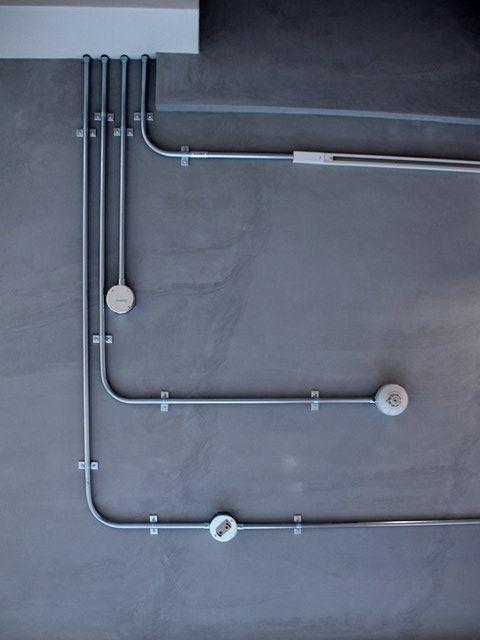 マンションリノベ M邸 鉄管 配管 電気計画