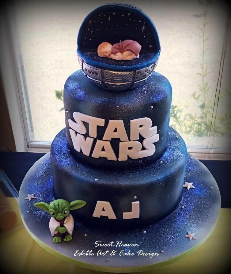 Elegant Star Wars Baby Shower Cake | My Cakes | Pinterest | Star Wars Baby, Shower  Cakes And Cake