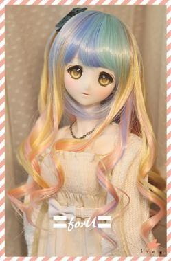 """New BJD Doll Wig Dollfie 7/"""" 1//4 SD DZ DOD LUTS Bjd Doll Wig 1-21 Colors MBS001"""