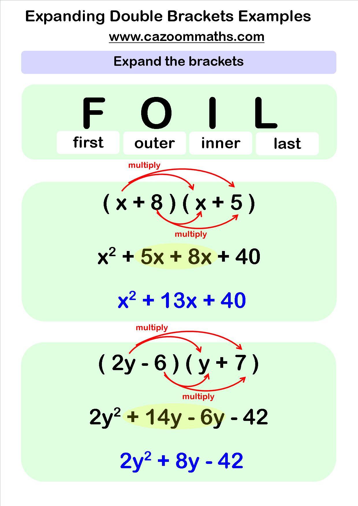 4 College Algebra Worksheets In