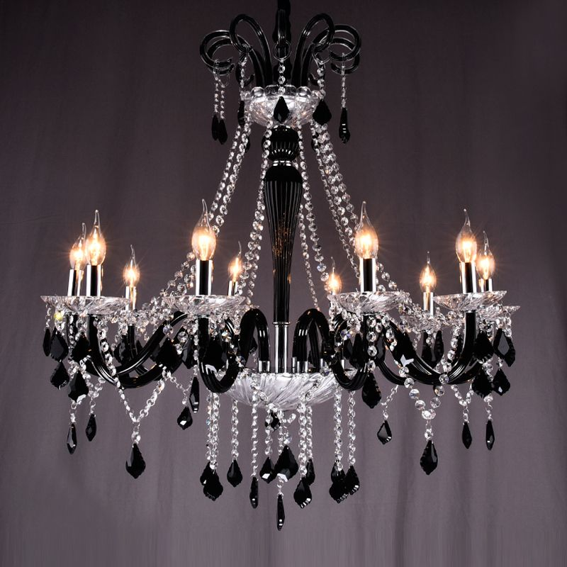 Black Crystal Chandeliers Led Transparent Crystal Light Modern Black Chandelier Crystal Pe Modern Black Chandeliers Black Chandelier Vintage Crystal Chandelier