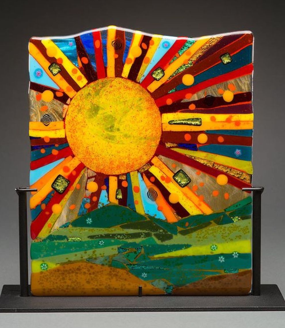 Fused glass image by lee hartlens glass collection
