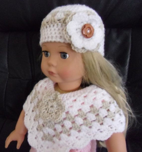 PDF Crochet pattern for hat and poncho for 18 inch doll | Ropa para ...