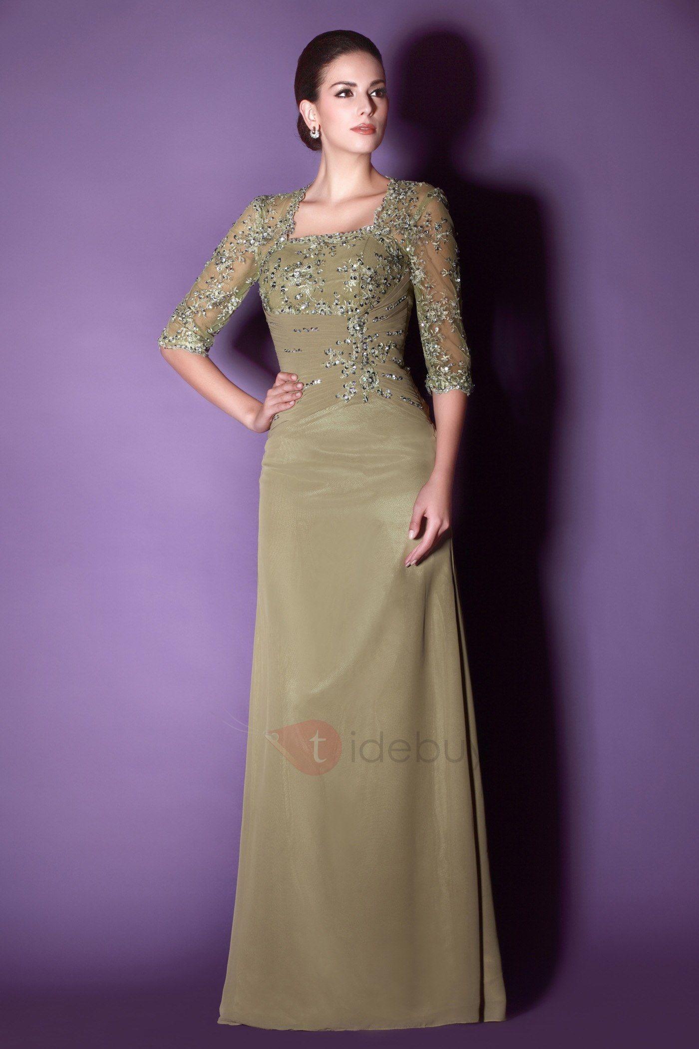 Moda de 2012 Vestido para Madre de la Boda de Encaje con Apliques ...