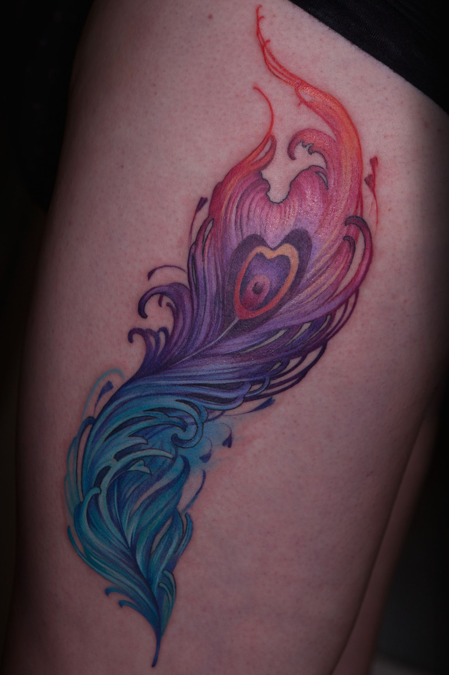 Colorful phoenix tattoo designs - Colorful Seahorse Jump From Water Tattoo Design Photo 5