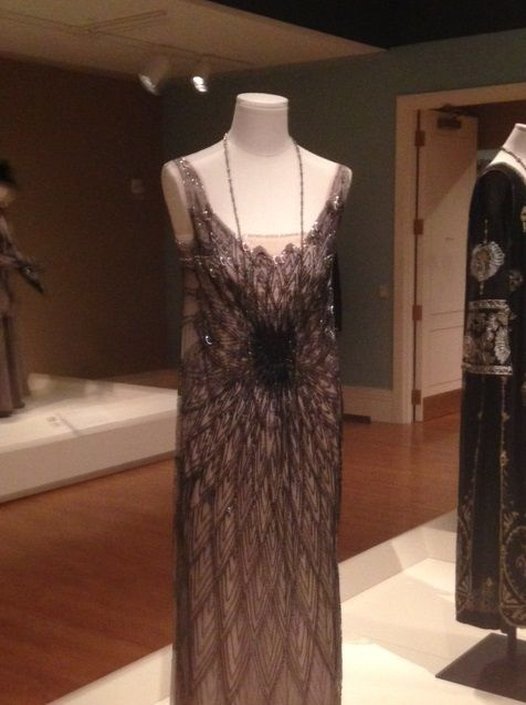Downton Abbey Clothing Exhibition - Lady Mary Art Deco Evening Dress ...