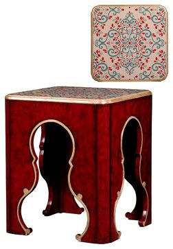 Tarascon Flower End Table - eclectic - Side Tables And Accent Tables - French Heritage