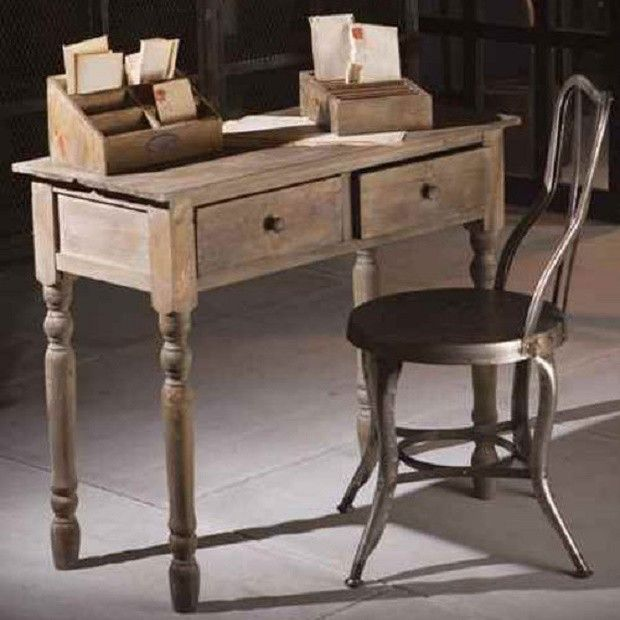 Rustic Writing Desk With Drawers