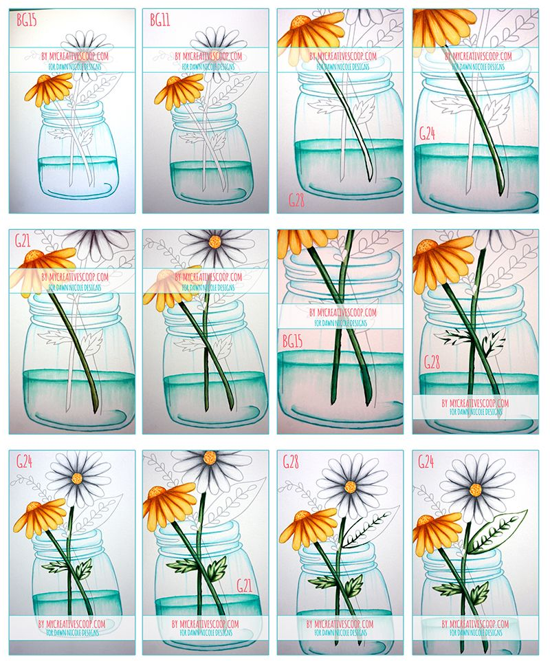How to Color Water and Glass with Copic Markers + Free Printable