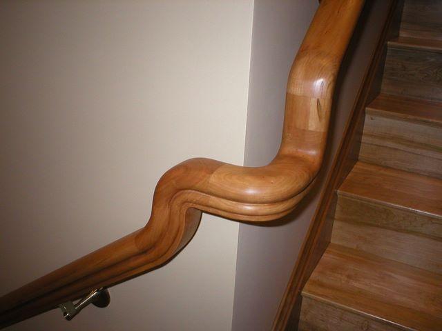 Cherry Stair Handrail Turning Corner