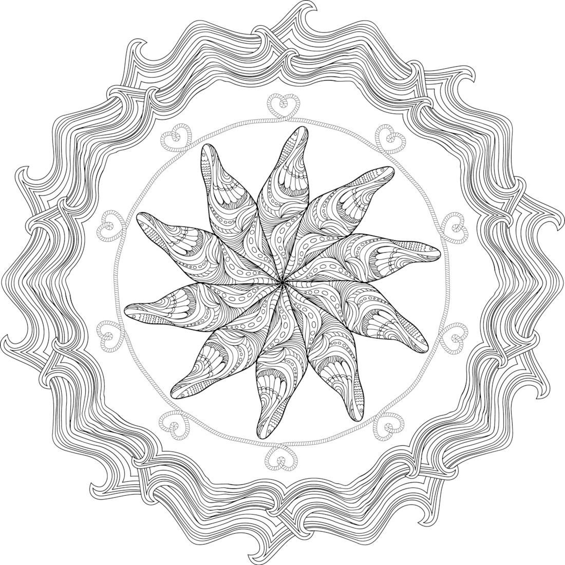 Cintamani Is A Jewel That Appears In Buddhism And Hinduism It S Said That The Cintamanit Wa Coloring Pages Mandala Coloring Pages Coloring Pages For Grown Ups