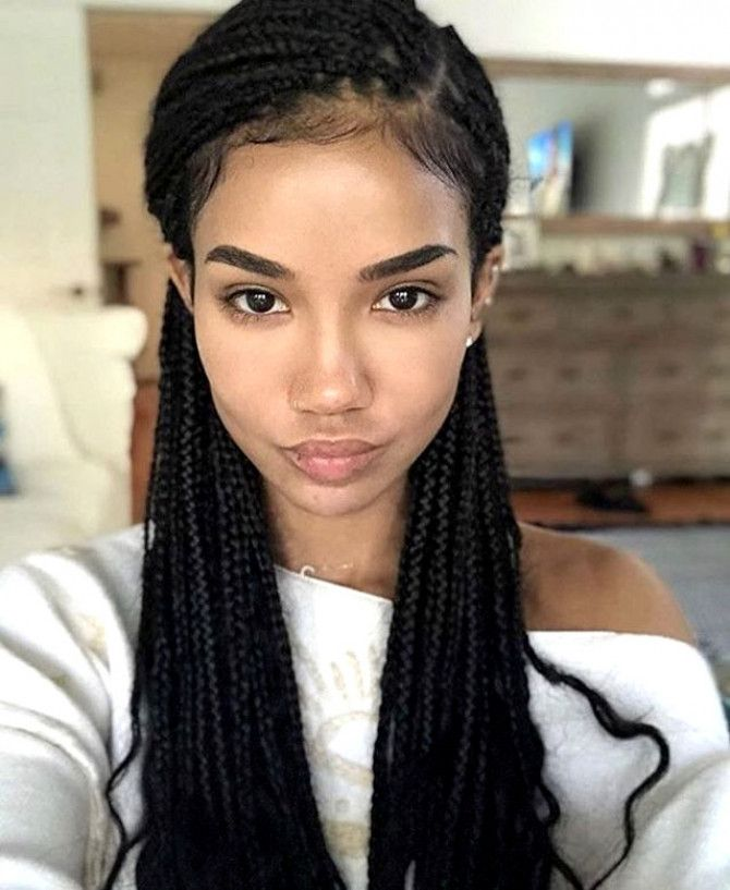 Jhene Aiko small box braids Braids