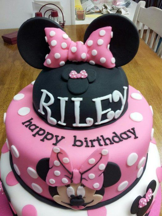 Minnie Mouse Birthday Cake Minnie Mouse Birthday Cakes Minnie Mouse Birthday Birthday
