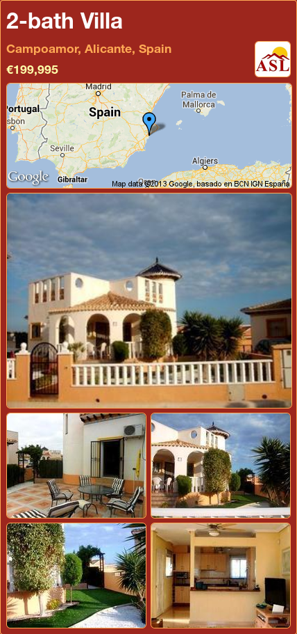 Villa For Sale In Campoamor Alicante Spain 2 Bathrooms A Spanish Life Villa Alicante Spain