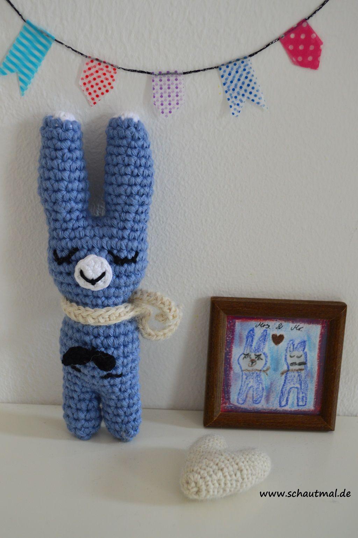 Mrs und Mr. Gratis Häkelanleitung von www.schautmal.de. Free crochet ...