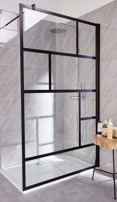 Paroi de douche loft noir 120 cm en 2019 inspirational - Paroi douche italienne castorama ...