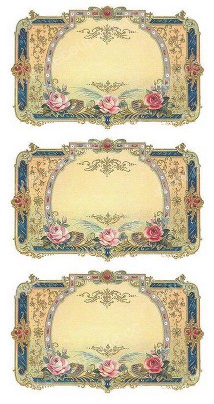 Pin De Caliel Ariel En Decoupage Etiquetas Vintage Etiquetas