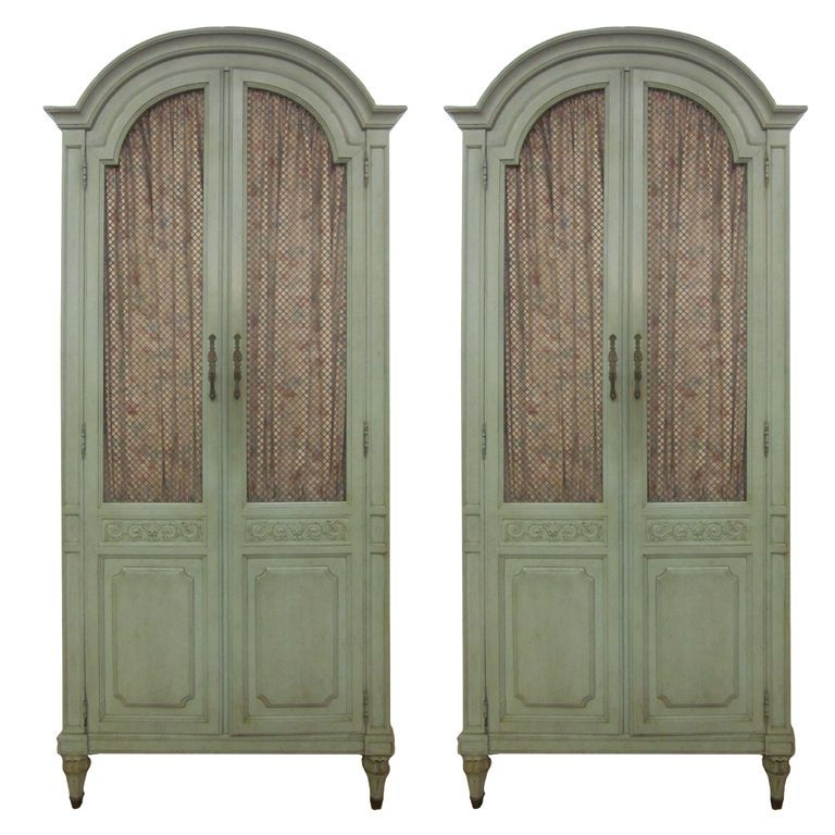 Pair Of French Style Armoires / Cabinets