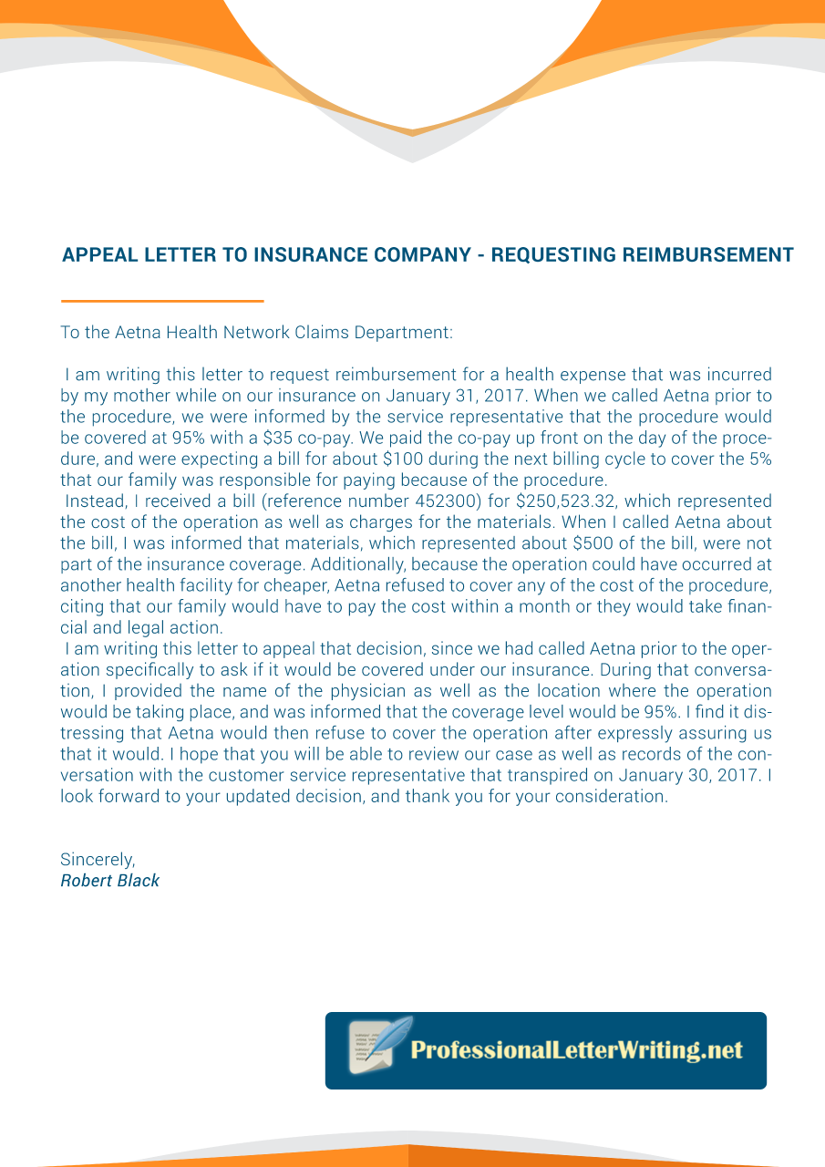 Attributes Of A Good Letter To Insurance Company For Claim Https